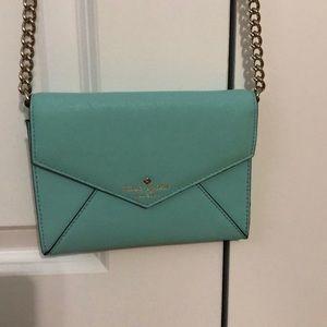 Kate Spade Side Bag Teal Purse Wallet